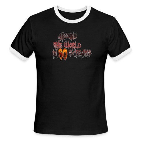 Around The World in 80 Screams - Men's Ringer T-Shirt