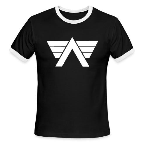 Bordeaux Sweater White AeRo Logo - Men's Ringer T-Shirt