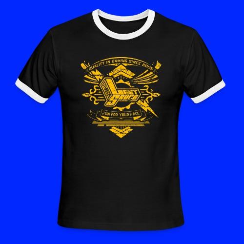 Vintage Leet Sauce Studios Crest Gold - Men's Ringer T-Shirt