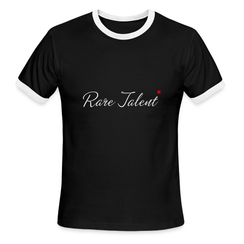Rare Talent White Text - Men's Ringer T-Shirt