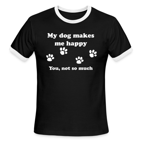 dog_happy - Men's Ringer T-Shirt