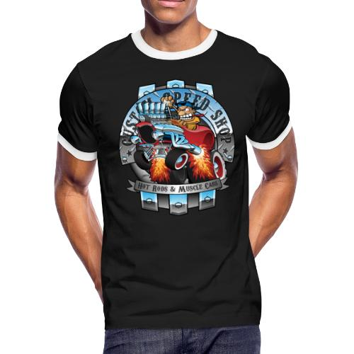 Custom Speed Shop Hot Rods and Muscle Cars Illustr - Men's Ringer T-Shirt