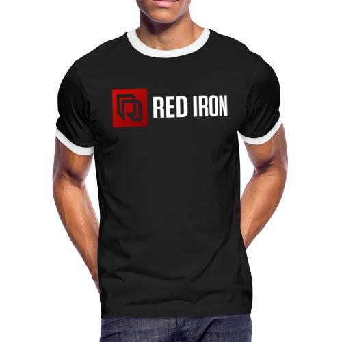 Red Iron Color Logo (White) - Men's Ringer T-Shirt