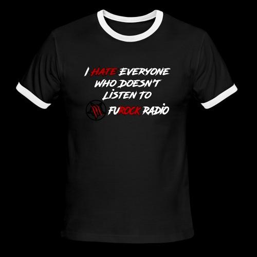 Hate Front/Back - Men's Ringer T-Shirt