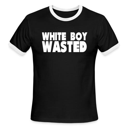 White Boy Wasted - Men's Ringer T-Shirt