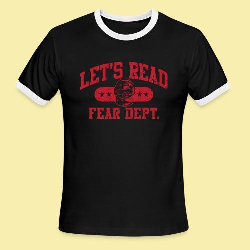 Fear Dept - Athletic Red - Inverted - Men's Ringer T-Shirt