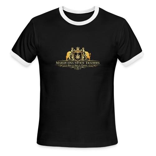 Original MST Marijuana Stock Traders Logo - Men's Ringer T-Shirt