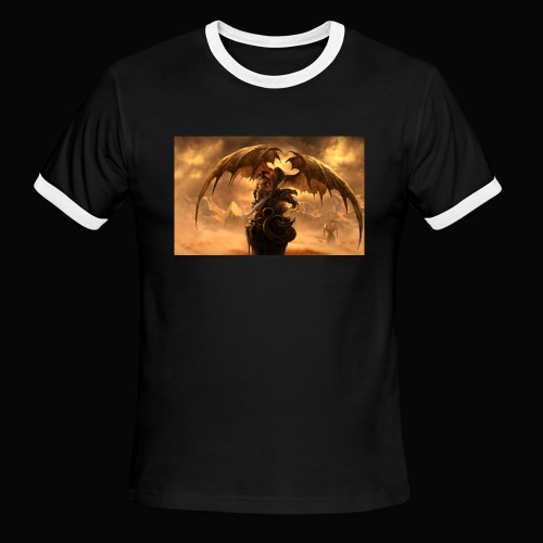 Dragon féroce - Men's Ringer T-Shirt