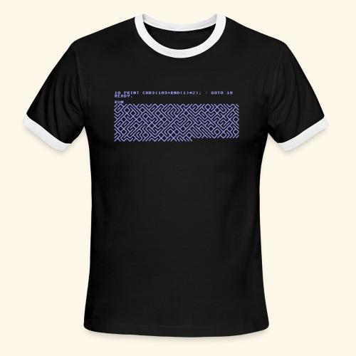 10 PRINT CHR$(205.5 RND(1)); : GOTO 10 - Men's Ringer T-Shirt