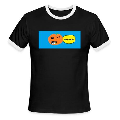 peachy smile - Men's Ringer T-Shirt