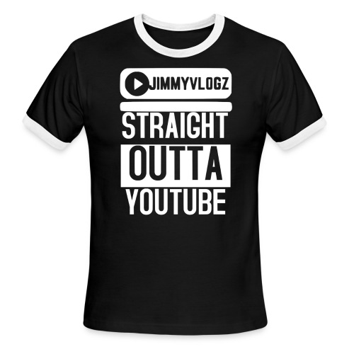Straight Outta YouTube Merch! - Men's Ringer T-Shirt