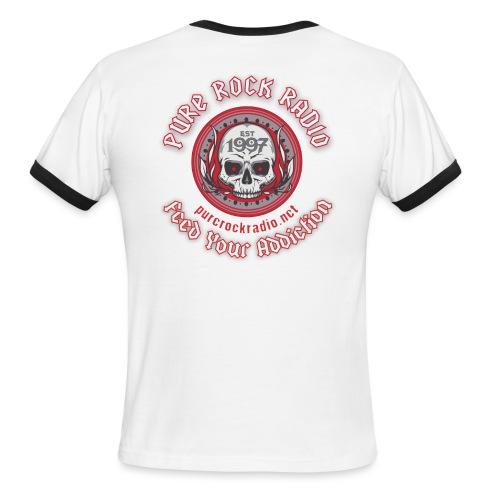 PRR Molenoise Skull (Front) + Circle Logo (Back) - Men's Ringer T-Shirt