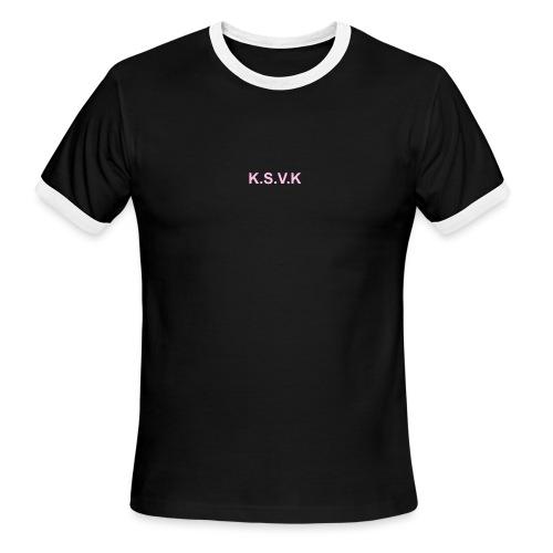 K.S.V.K Pink Edition - Men's Ringer T-Shirt