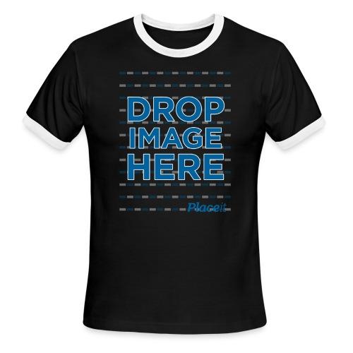 DROP IMAGE HERE - Placeit Design - Men's Ringer T-Shirt