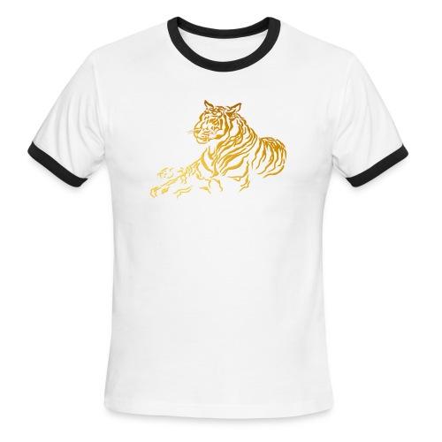 Gold Tiger - Men's Ringer T-Shirt