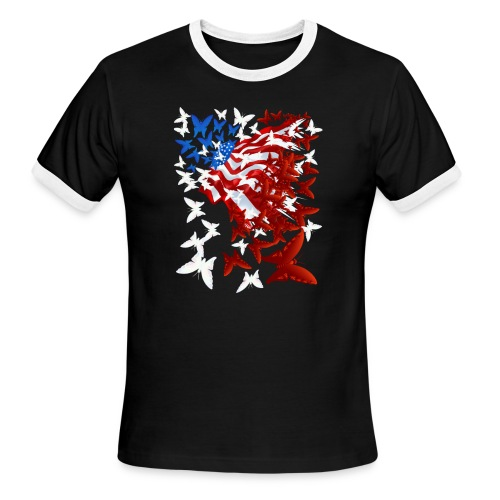 The Butterfly Flag - Men's Ringer T-Shirt