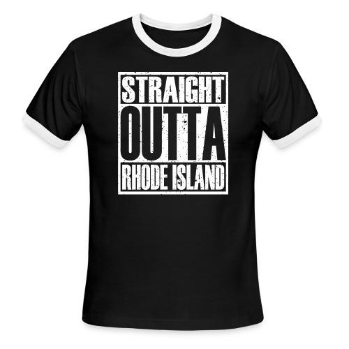 Straight Outta Rhode Island - Men's Ringer T-Shirt