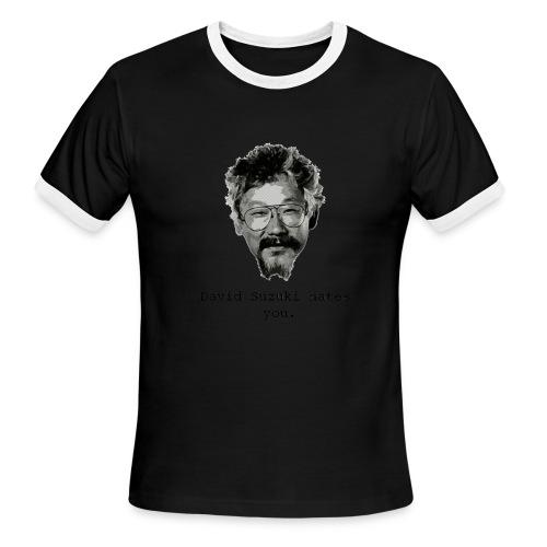 davidsuzukihatesyou - Men's Ringer T-Shirt
