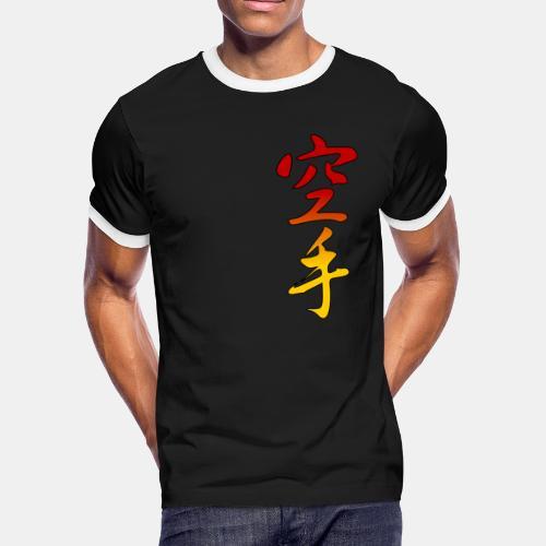 Karate Kanji Red Yellow Gradient - Men's Ringer T-Shirt