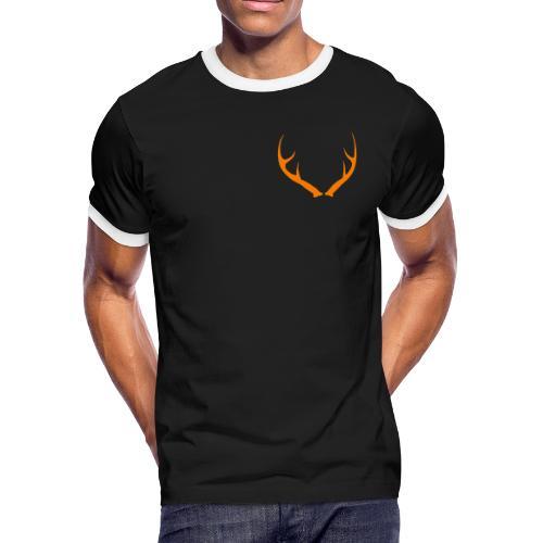 DEER ANTLERS BLAZE - Men's Ringer T-Shirt