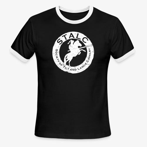 STALC Retro Logo WHITE - Men's Ringer T-Shirt