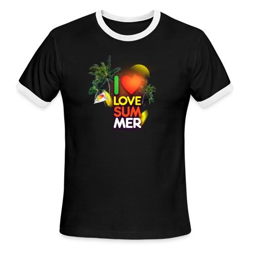I love summer - Men's Ringer T-Shirt