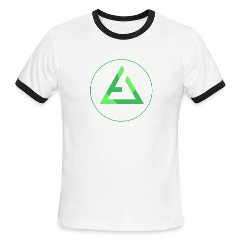 crypto logo branding - Men's Ringer T-Shirt