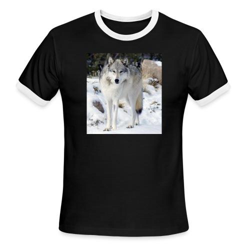 Canis lupus occidentalis - Men's Ringer T-Shirt