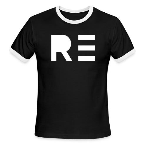 RE Logo - Men's Ringer T-Shirt
