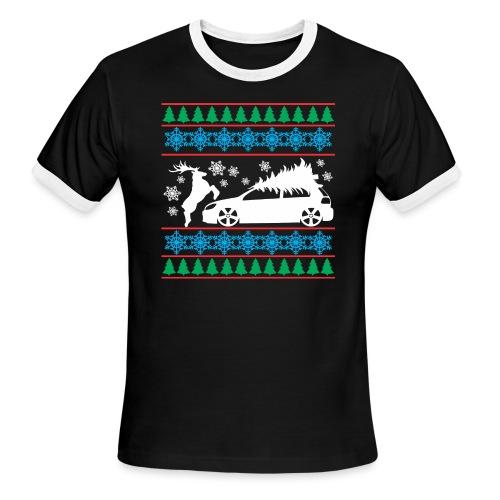 MK6 GTI Ugly Christmas Sweater - Men's Ringer T-Shirt