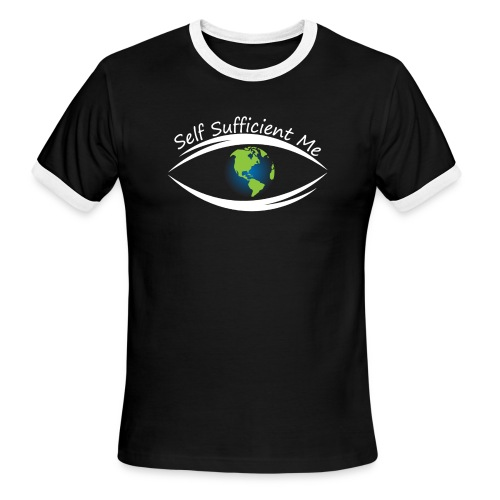 Self Sufficient Me Logo Large - Men's Ringer T-Shirt