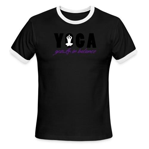 YOGA - Growth in Balance - Men's Ringer T-Shirt