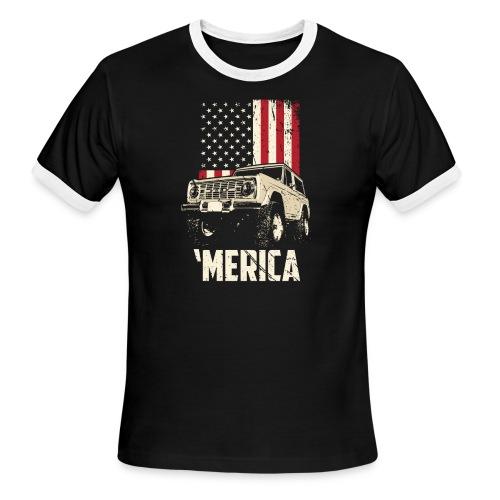 Bronco 'Merica Truck - Men's Ringer T-Shirt