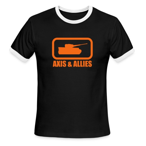 Tank Logo with Axis & Allies text - Multi-color - Men's Ringer T-Shirt