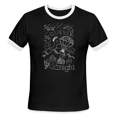 Up at Night Design - Men's Ringer T-Shirt
