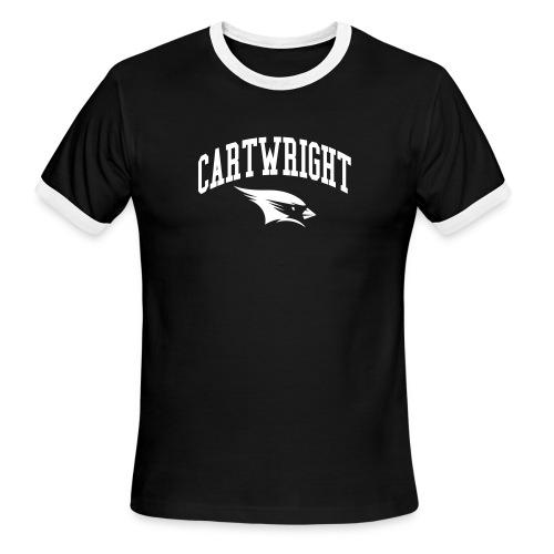 Cartwright College Logo - Men's Ringer T-Shirt