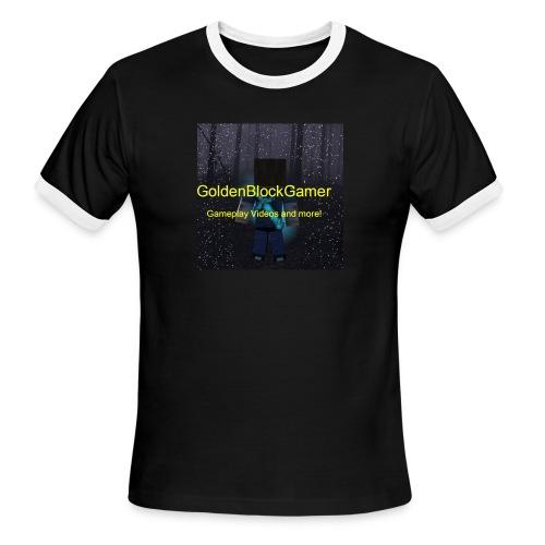 GoldenBlockGamer Tshirt - Men's Ringer T-Shirt