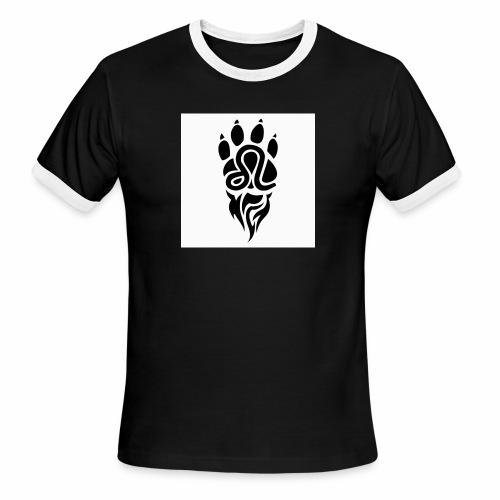 Black Leo Zodiac Sign - Men's Ringer T-Shirt