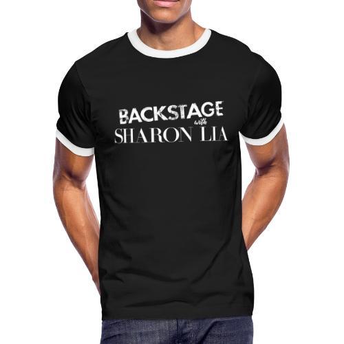 Backstage With Sharon Lia - White - Men's Ringer T-Shirt