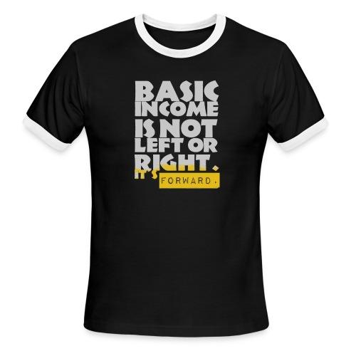 UBI is not Left or Right - Men's Ringer T-Shirt