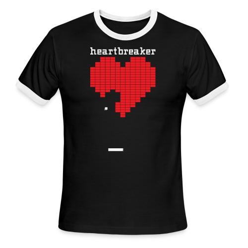 Heartbreaker Valentine's Day Game Valentine Heart - Men's Ringer T-Shirt