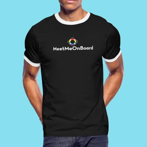 MMOB_logo_vert_whitetype - Men's Ringer T-Shirt