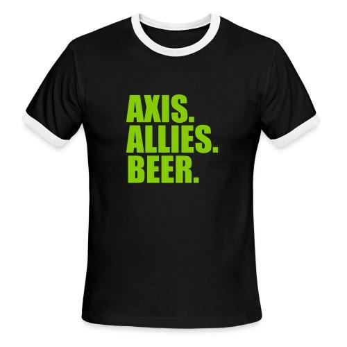 Axis. Allies. Beer. Axis & Allies - Men's Ringer T-Shirt