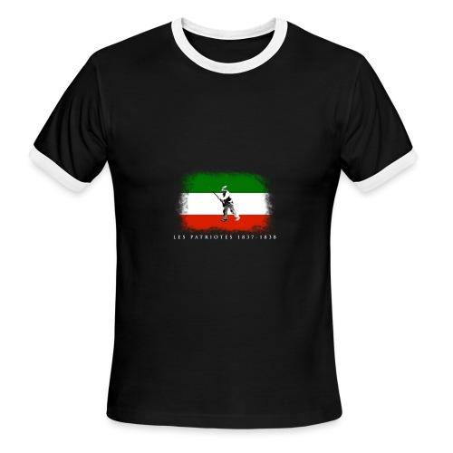 Patriote 1837 1838 - T-shirt à bords contrastants pour hommes American Apparel