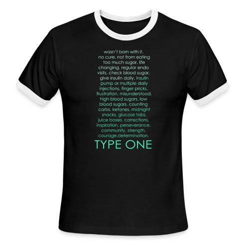 The Inspire Collection - Type One - Green - Men's Ringer T-Shirt