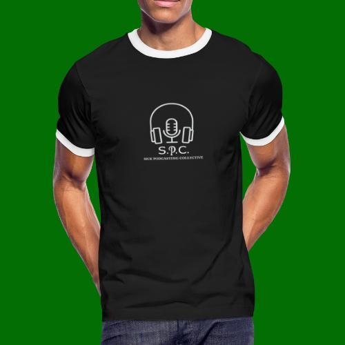 SPC Logo White - Men's Ringer T-Shirt