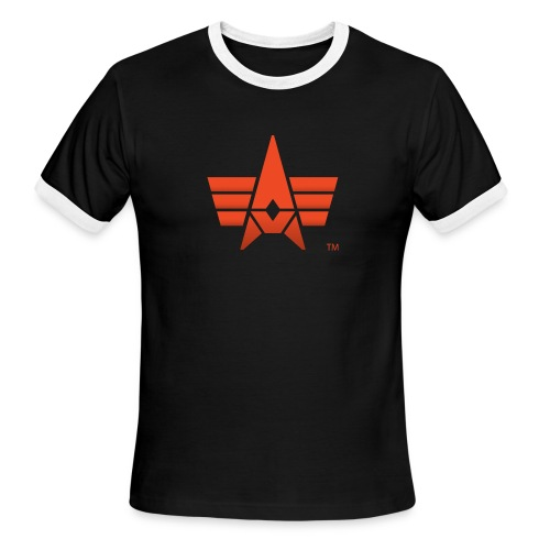 BHK Icon red stylized TM - Men's Ringer T-Shirt