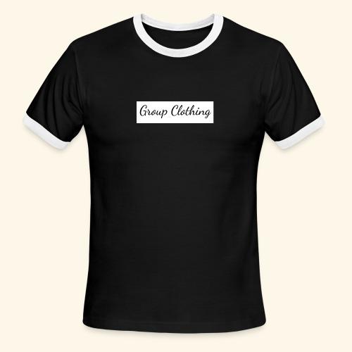 Cursive Black and White Hoodie - Men's Ringer T-Shirt