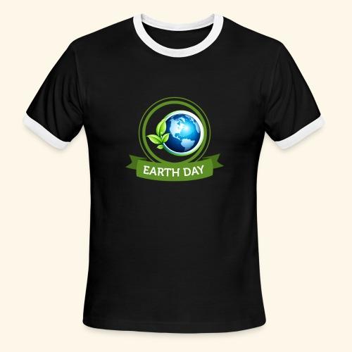 Happy Earth day - 3 - Men's Ringer T-Shirt