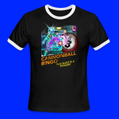 Vintage Cannonball Bingo Box Art Tee - Men's Ringer T-Shirt